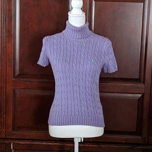 Ralph Lauren Sport Short Sleeve Sweater Size M